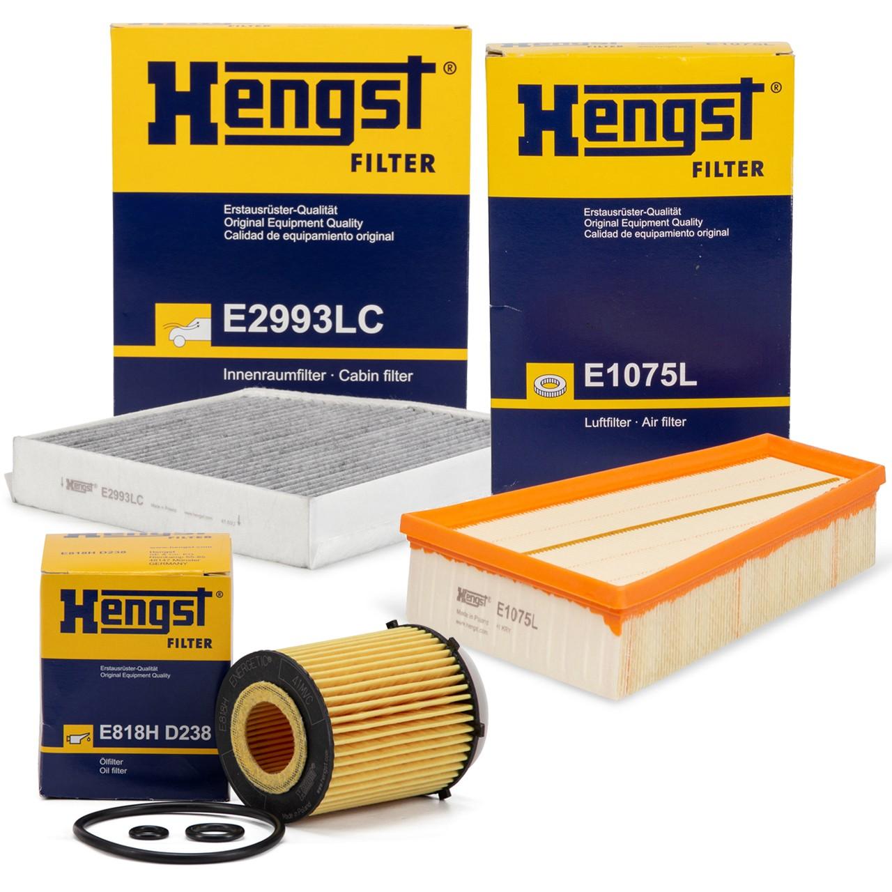 HENGST Filterset für MERCEDES W176 W246 C117 X117 X156 160-250 102-218 PS M270