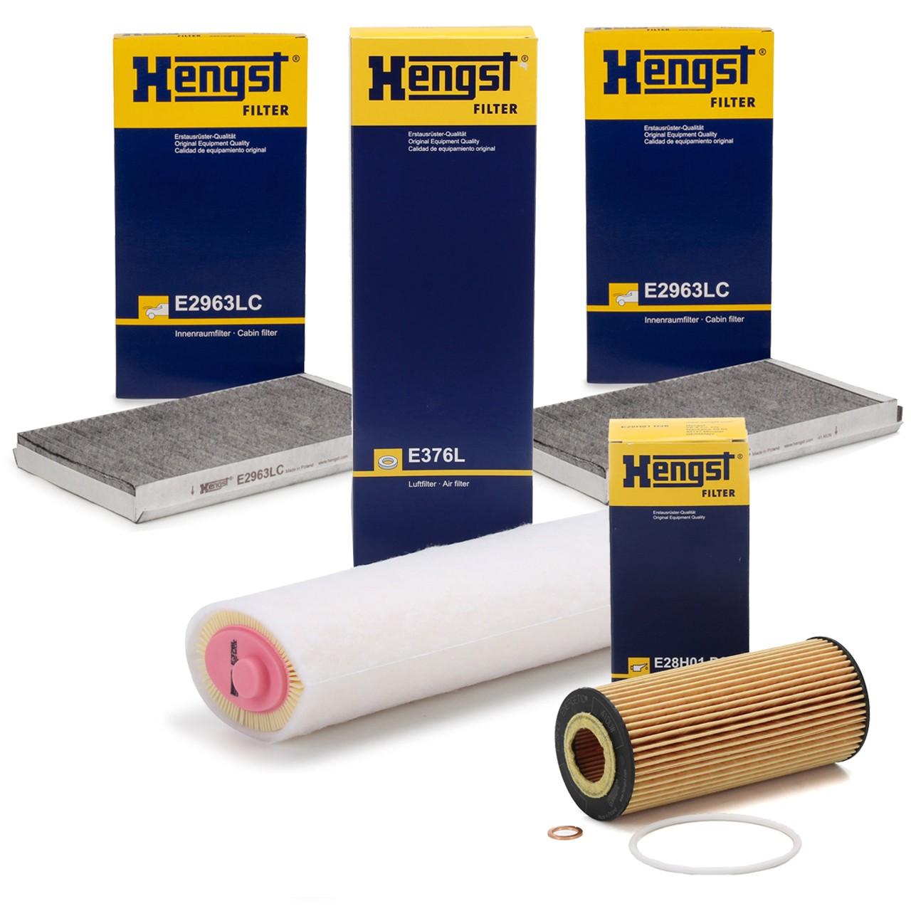 HENGST Filterset BMW 5er E60 E61 525d 163/177/197 PS + 530d 211/218/231/235 PS M57
