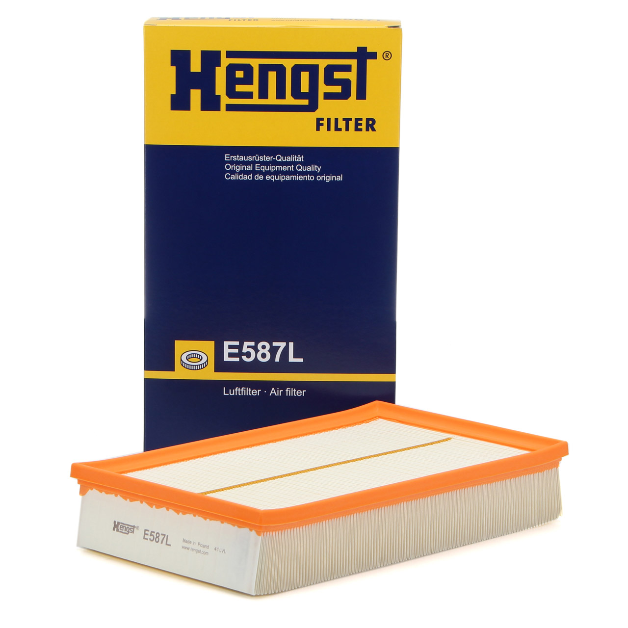 HENGST E587L Luftfilter Motorluft für VW MULTIVAN TRANSPORTER T5 T6 7H0129620