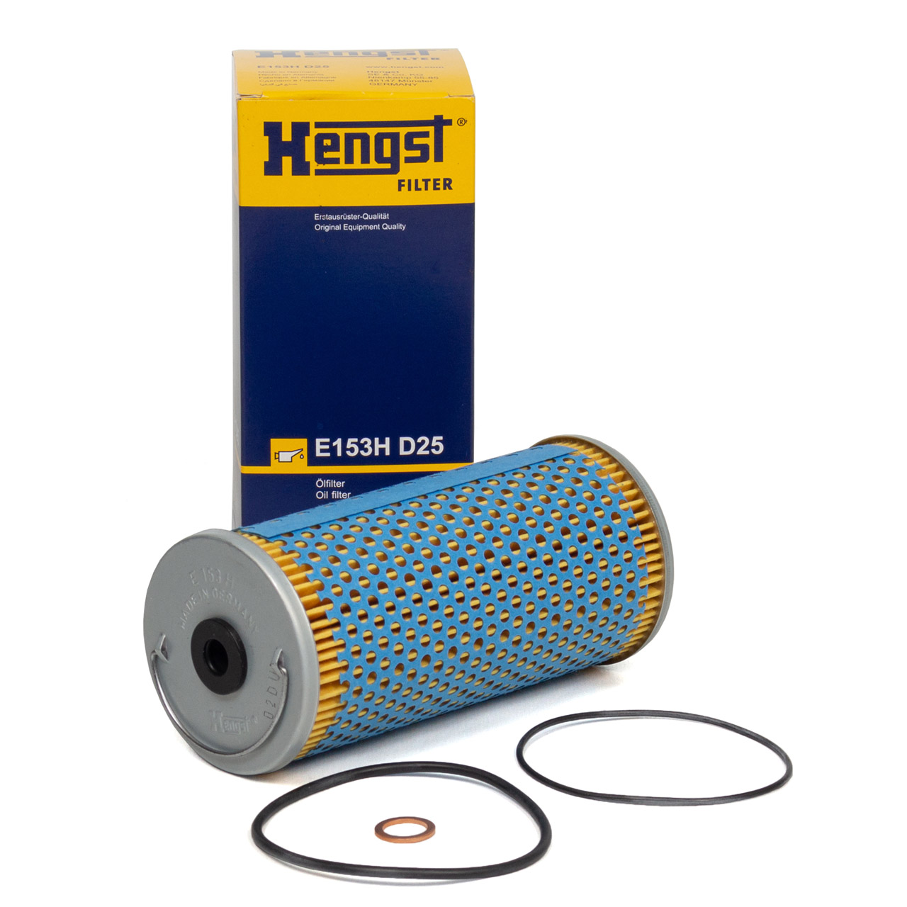 HENGST E153HD25 Ölfilter MERCEDES W124 W210 S210 W140 C140 R129 420 500 50/60AMG