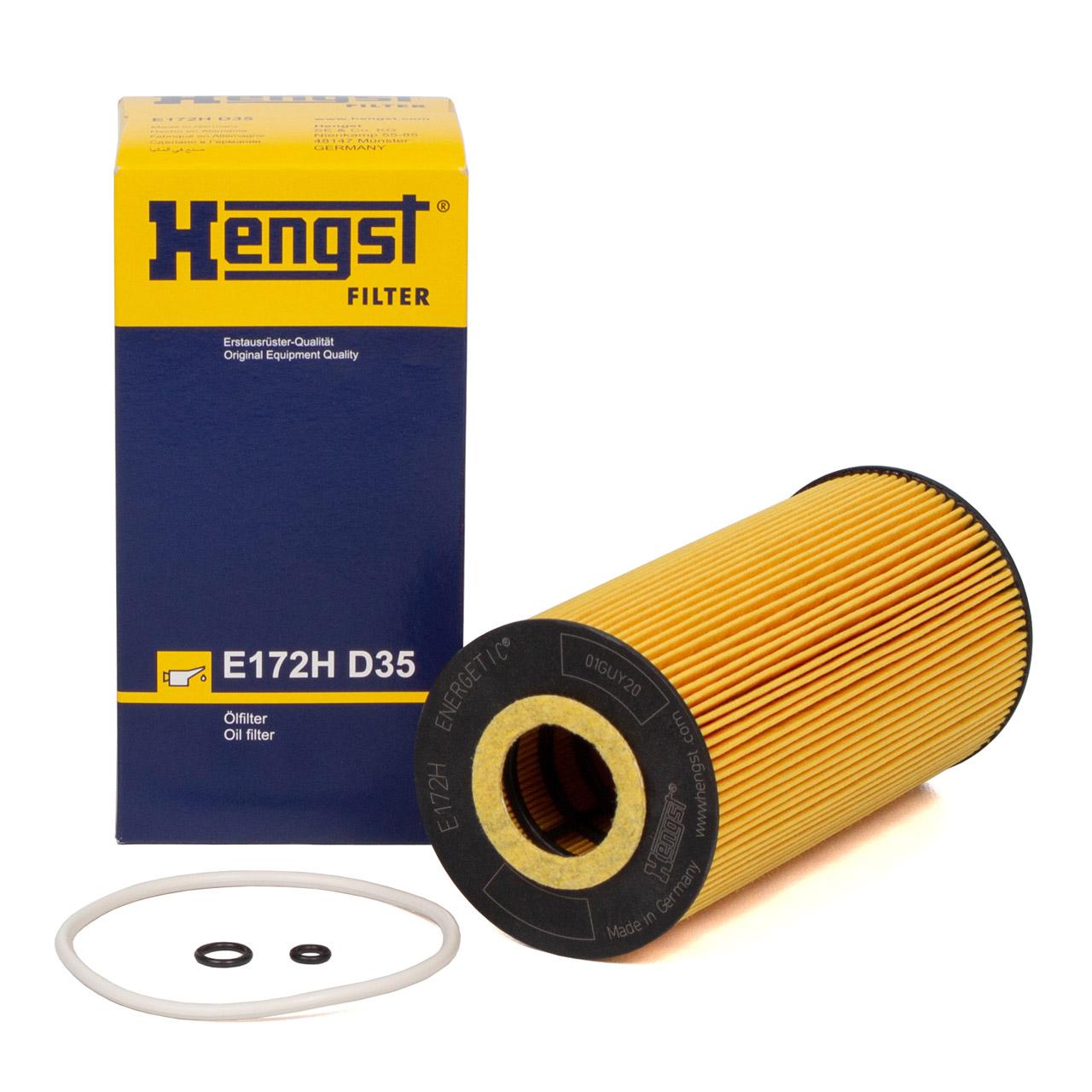 HENGST E172HD35 Ölfilter MERCEDES-BENZ OM601 OM602 OM603 OM604 OM605