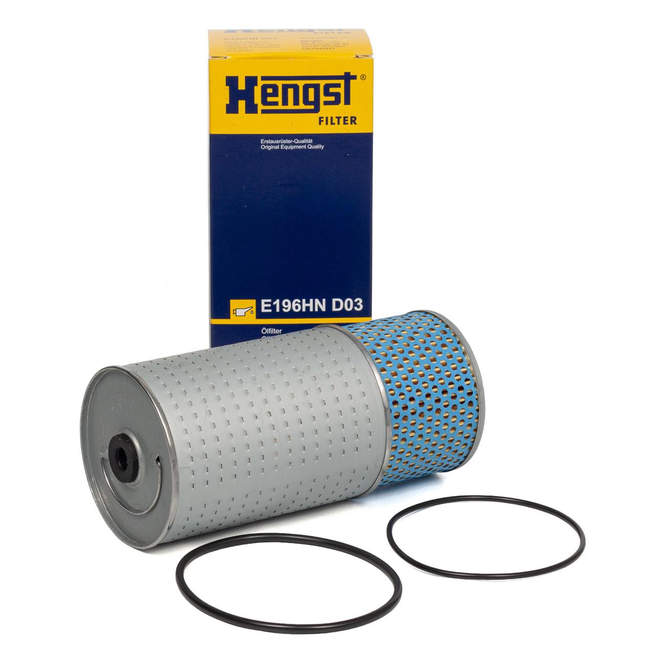 HENGST E196HND03 Ölfilter für MERCEDES W460 240/300GD W123 200D 2220D 240D 300D