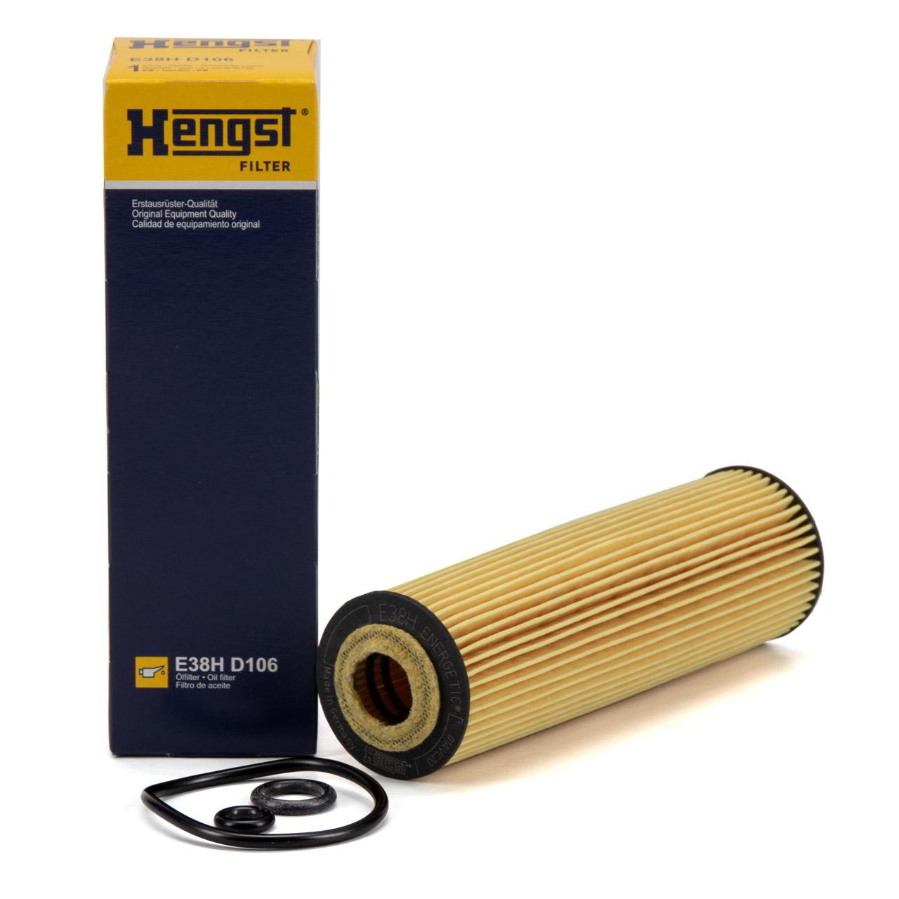 HENGST E38HD106 Ölfilter MERCEDES W203 W204 C209 A209 W211 W212 R171 Sprinter