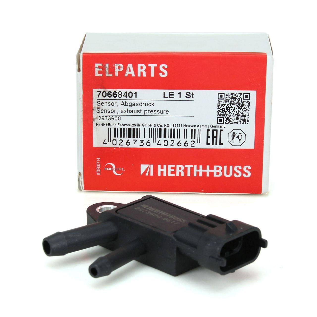 HERTH+BUSS ELPARTS Abgasdrucksensor 70668401 für ALFA ROMEO FIAT LANCIA OPEL