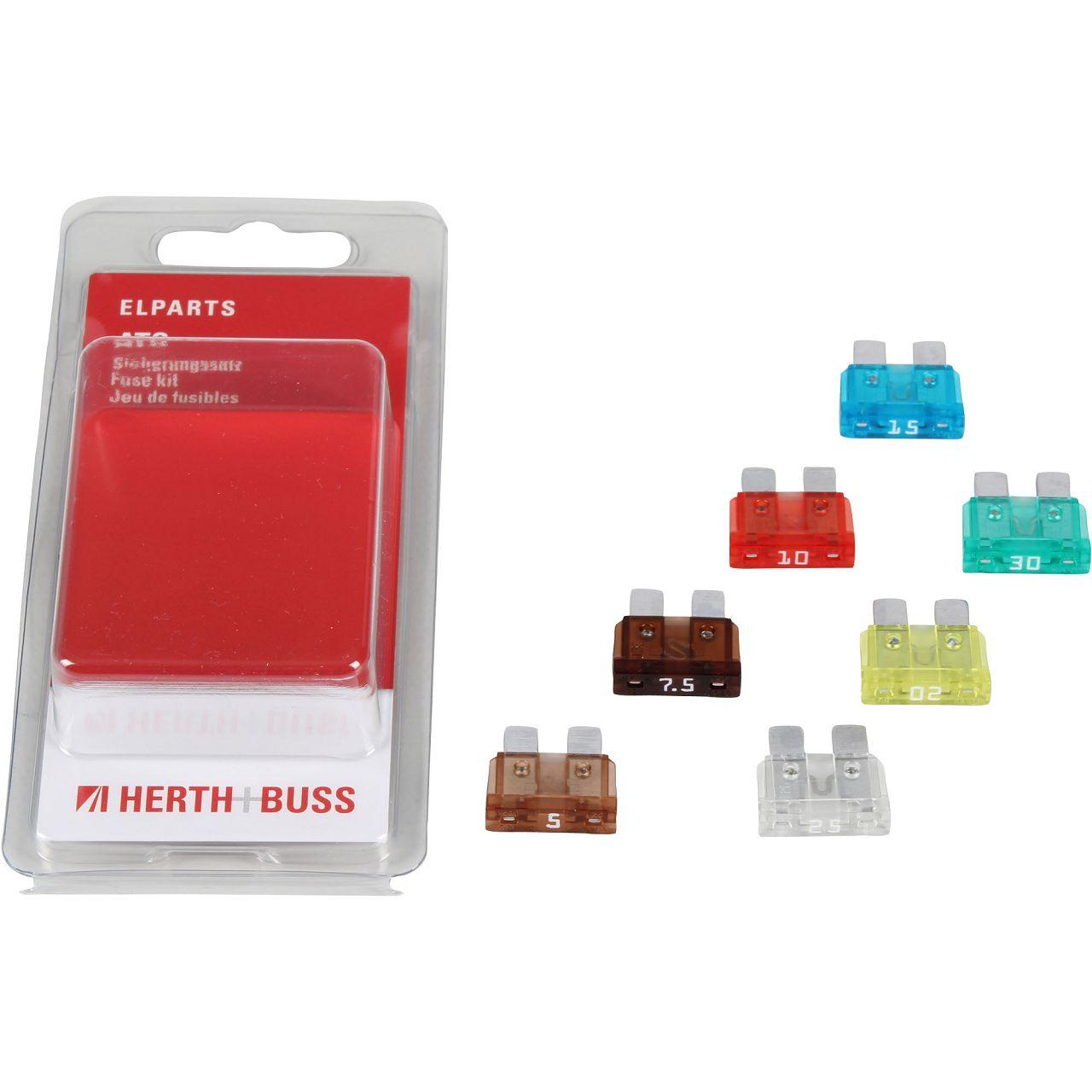 7x HERTH+BUSS ELPARTS Sicherung STANDARD-Flachstecksicherung 5A - 30A