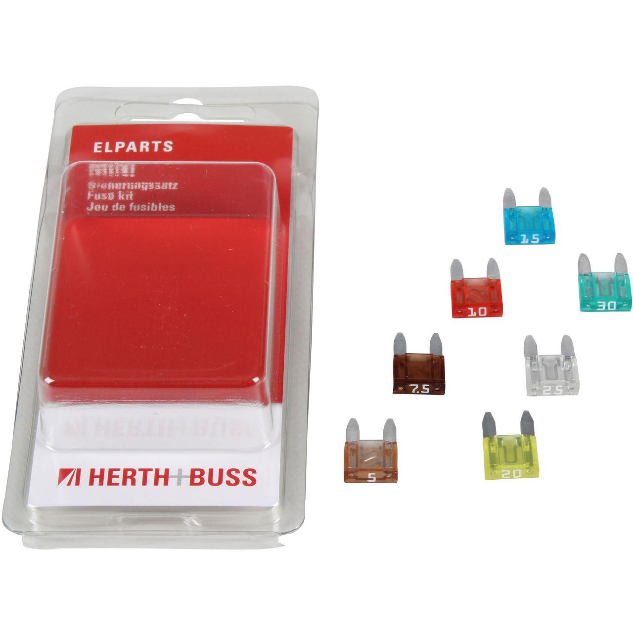 7x HERTH+BUSS ELPARTS Sicherung MINI-Flachstecksicherung 5A - 30A
