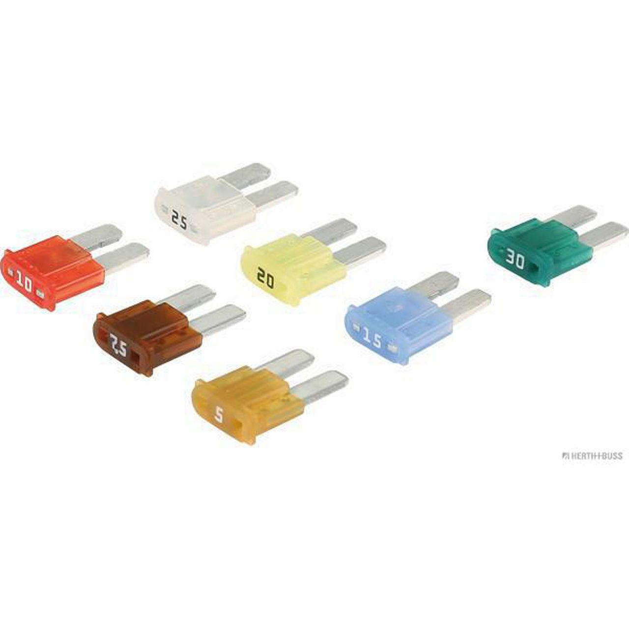 7x HERTH+BUSS ELPARTS Sicherung MICRO-Flachstecksicherung 5A - 30A