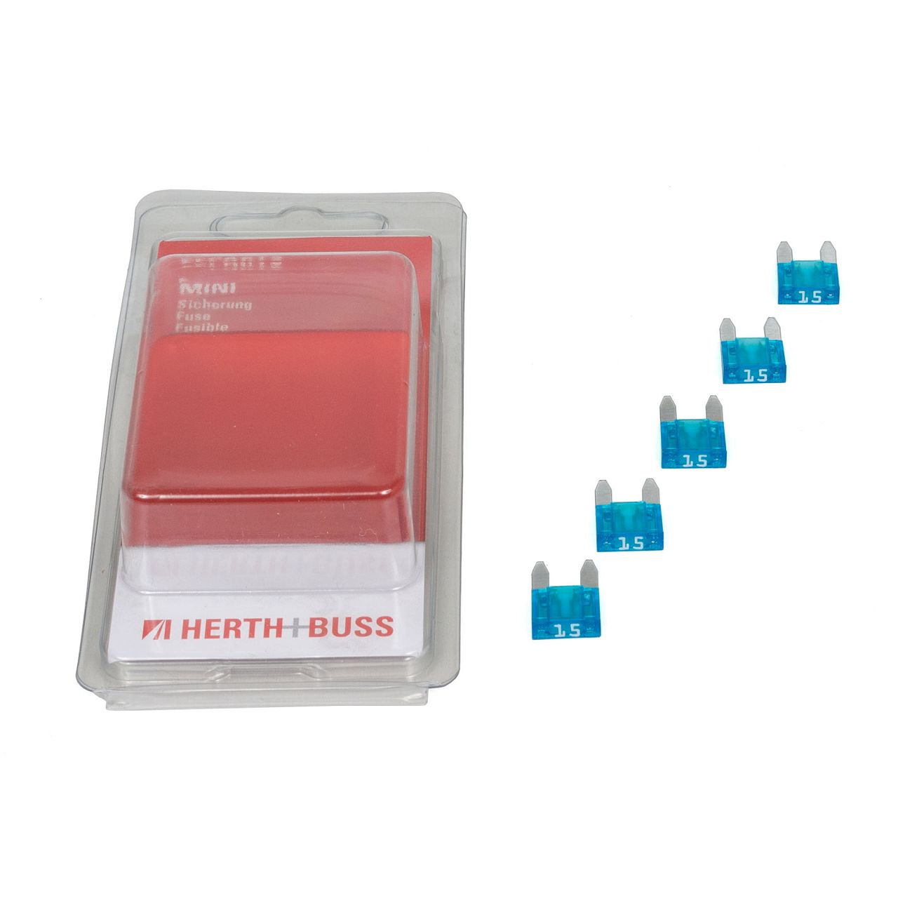 5x HERTH+BUSS ELPARTS Sicherung Micro-Flachstecksicherung 15A - 32A