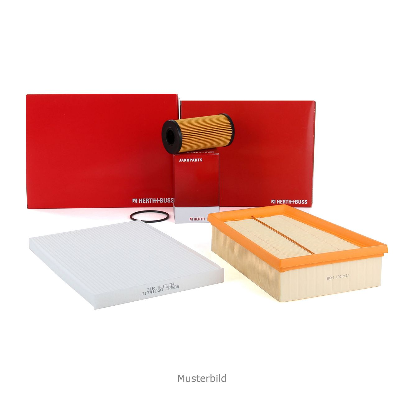 HERTH+BUSS JAKOPARTS Inspektionskit Filterpaket für TOYOTA IQ 1.4 D-4D 90 PS