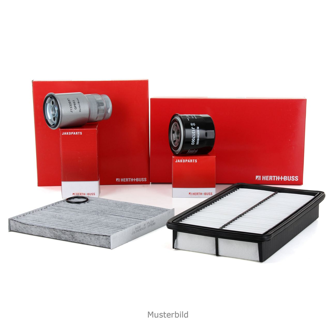 HERTH+BUSS JAKOPARTS Filterpaket Filterset für MITSUBISHI PAJERO III 3.5 203 PS