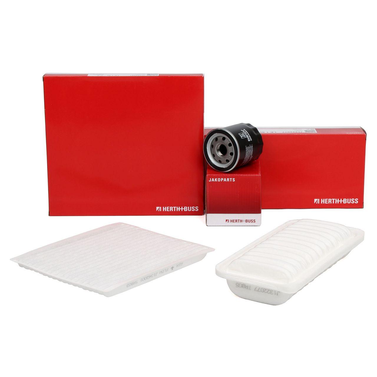 HERTH+BUSS JAKOPARTS Filterset für TOYOTA YARIS / YARIS VERSO 1.3 1.5 84-106 PS