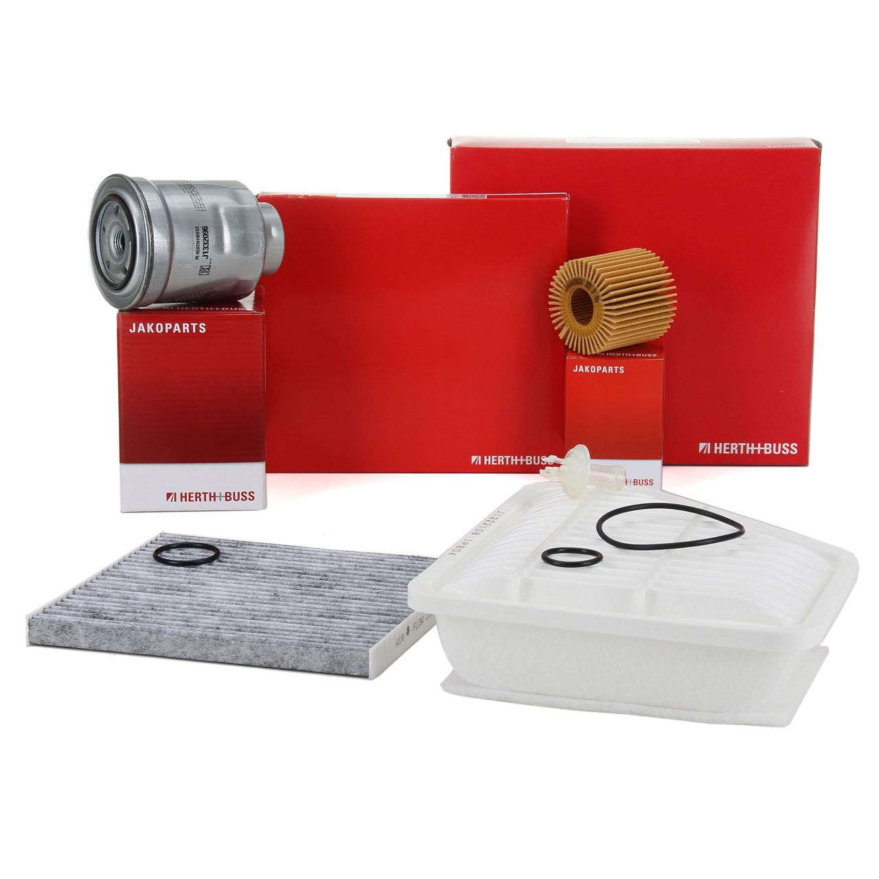 HERTH+BUSS JAKOPARTS Inspektionskit Filterpaket für TOYOTA AURIS 1.4D-4D 90 PS