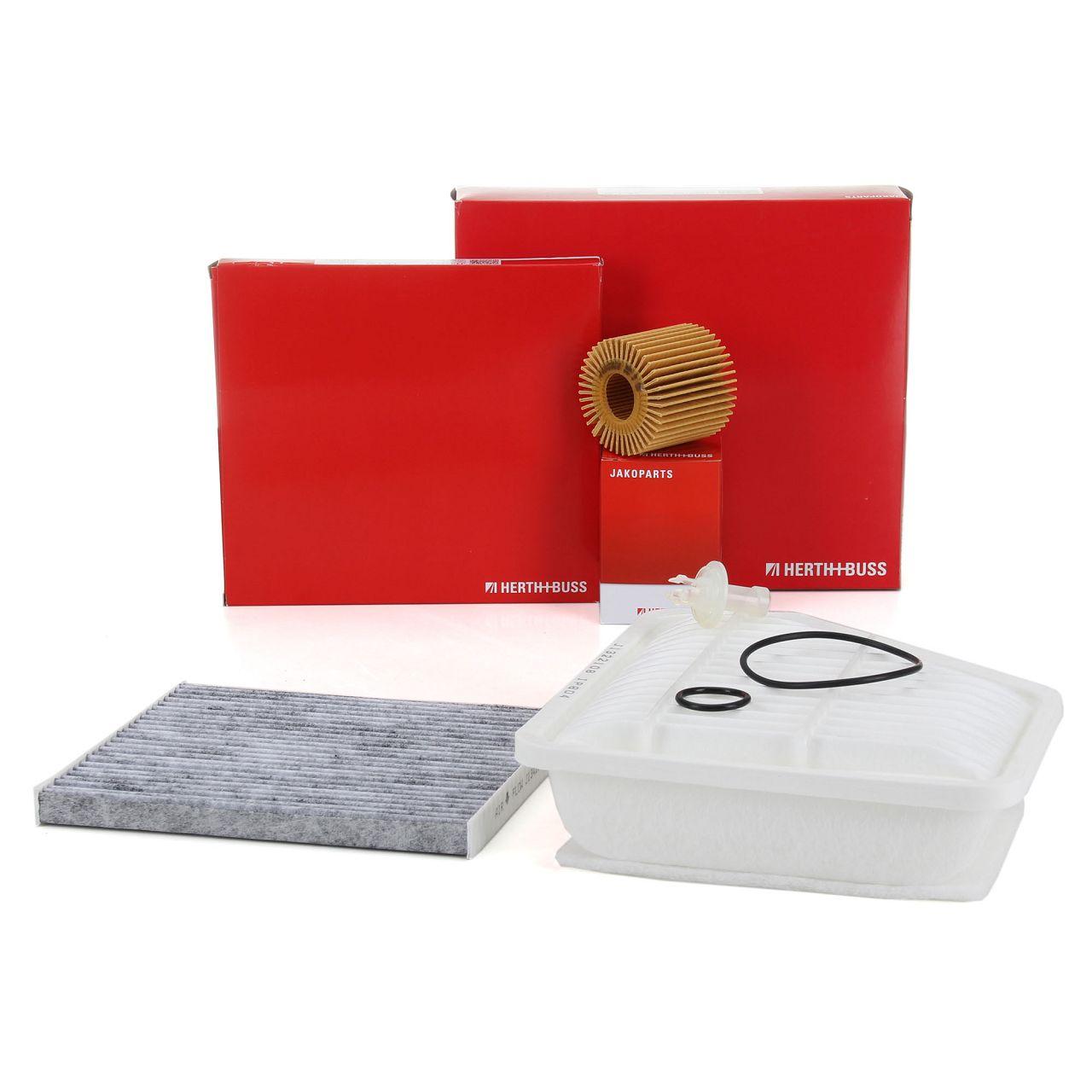 HERTH+BUSS JAKOPARTS Inspektionskit Filterpaket für TOYOTA AURIS 1.4 D-4D 90 PS