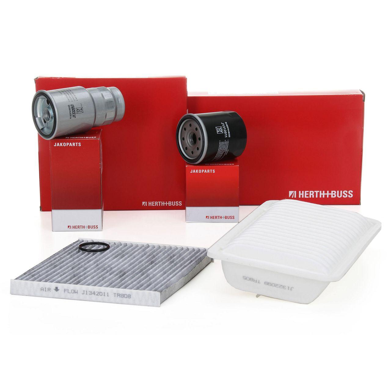 HERTH+BUSS JAKOPARTS Filterpaket Filterset für TOYOTA COROLLA 1.4D/D-4D 90 PS