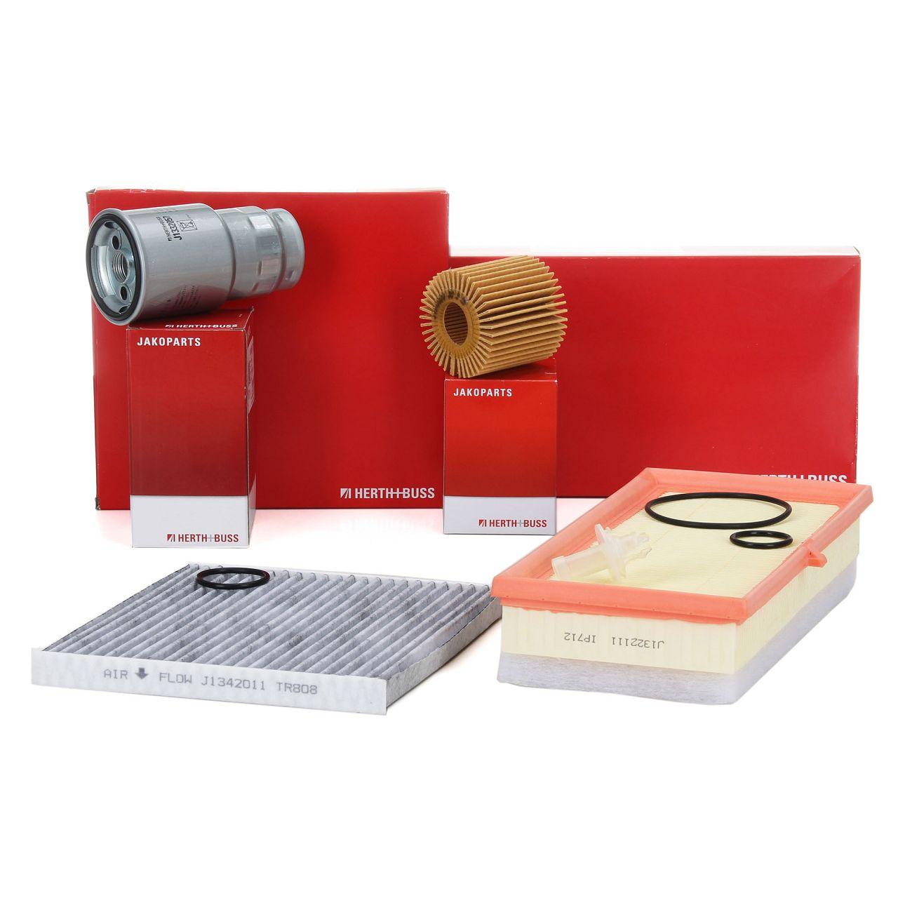 HERTH+BUSS JAKOPARTS Inspektionskit Filterpaket für TOYOTA VERSO S 1.4D4-D 90 PS