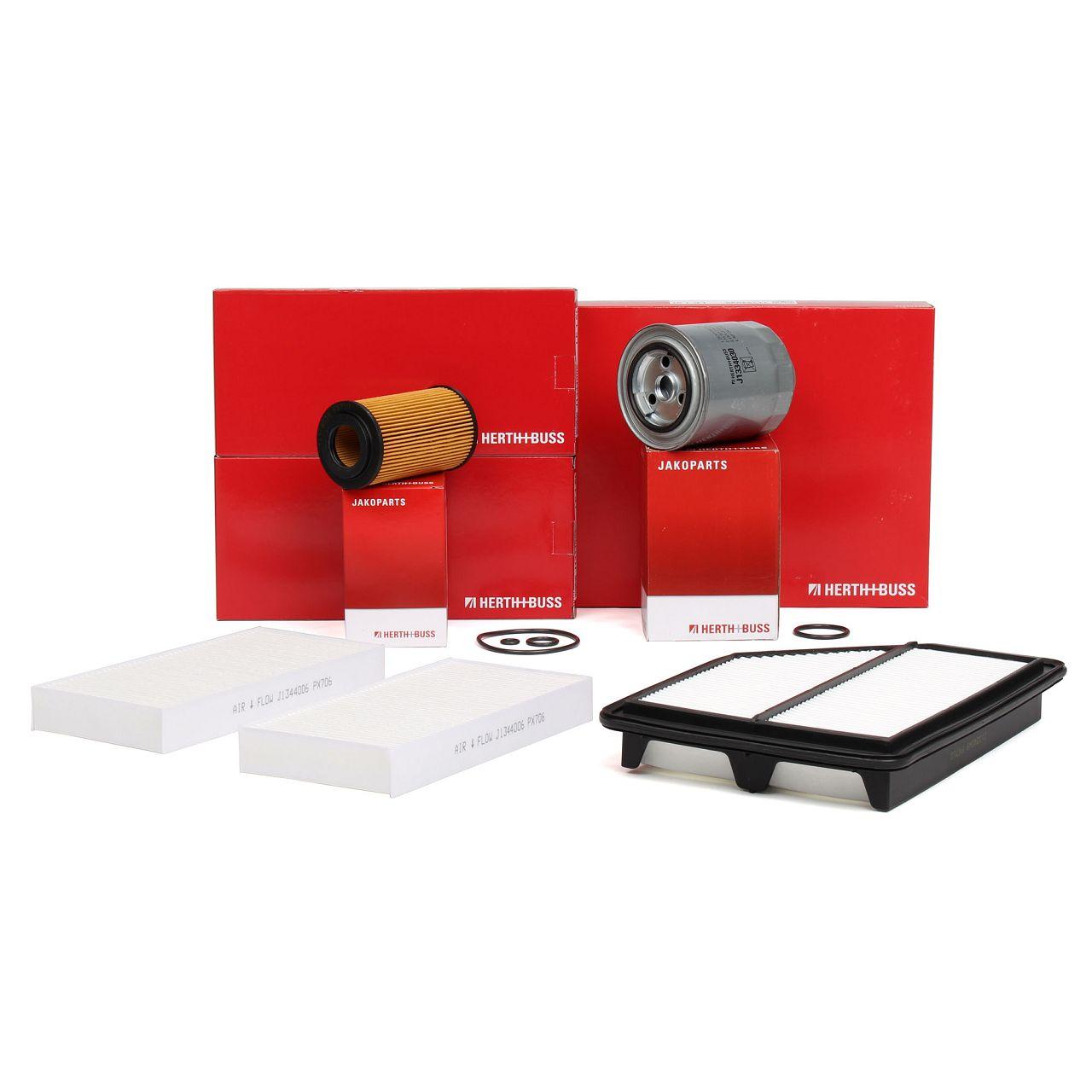 HERTH+BUSS Inspektionskit Filterpaket für HONDA CR-V II (RD_) 2.2 CTDi 140 PS