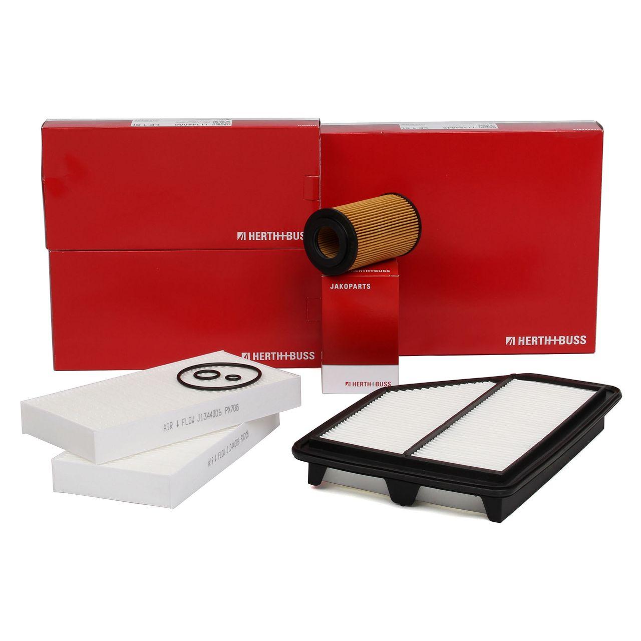 HERTH+BUSS Inspektionskit Filterpaket für HONDA CR-V II (RD_) FR-V (BE) 2.2 CTDi
