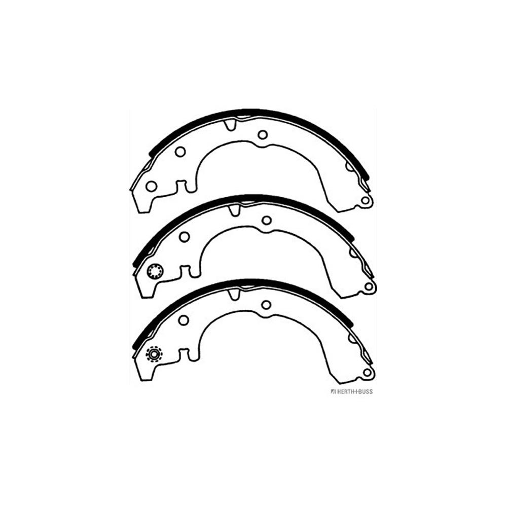 HERTH+BUSS JAKOPARTS Bremsbacken Satz TOYOTA Corolla (_E9_) 1.6 4WD