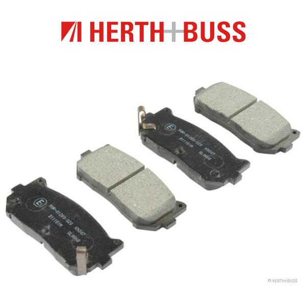 HERTH+BUSS Bremsen Bremsscheiben + Bremsbeläge für KIA CARENS I II CLARUS hinten