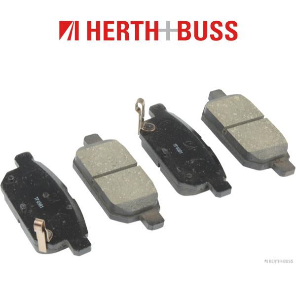 HERTH+BUSS Bremsen Kit Bremsscheiben + Beläge für SUZUKI SWIFT IV 1.2 4x4 hinten