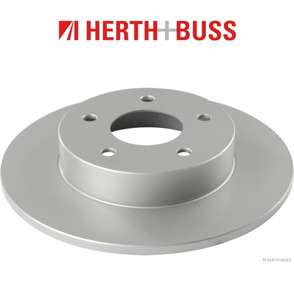 HERTH+BUSS Bremsen Bremsscheiben + Beläge für NISSAN ALMERA TINO (V10) hinten