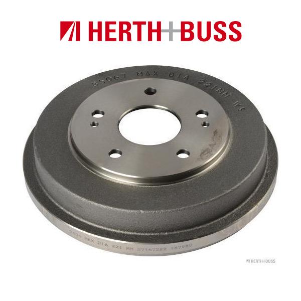 HERTH+BUSS JAKOPARTS Bremstrommel für HONDA CR-V I (RD) HR-V (GH) hinten