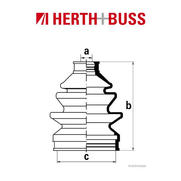 HERTH+BUSS JAKOPARTS Achsmanschetten Satz für KIA SHUMA (FB) vorne RADSEITIG