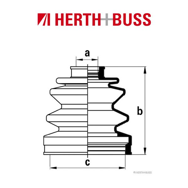 HERTH+BUSS JAKOPARTS Achsmanschetten Satz für HYUNDAI COUPE 2.7 V6 vorne RADSEI