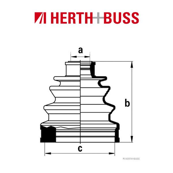 HERTH+BUSS JAKOPARTS Achsmanschetten Satz für NISSAN 200 SX 240 SX BLUEBIRD CUBE