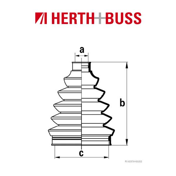 HERTH+BUSS JAKOPARTS Achsmanschetten Satz für MITSUBISHI NISSAN vorne RADSEITIG