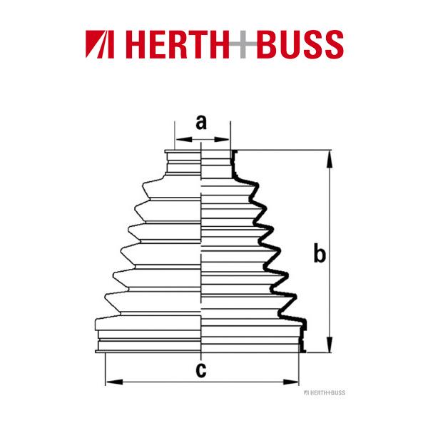HERTH+BUSS JAKOPARTS Achsmanschetten Satz für NISSAN PRIMERA vorne links RADSEI