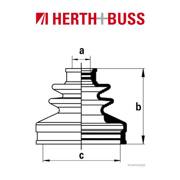 HERTH+BUSS JAKOPARTS Achsmanschetten Satz für NISSAN CUBE X-TRAIL hinten RADSEI