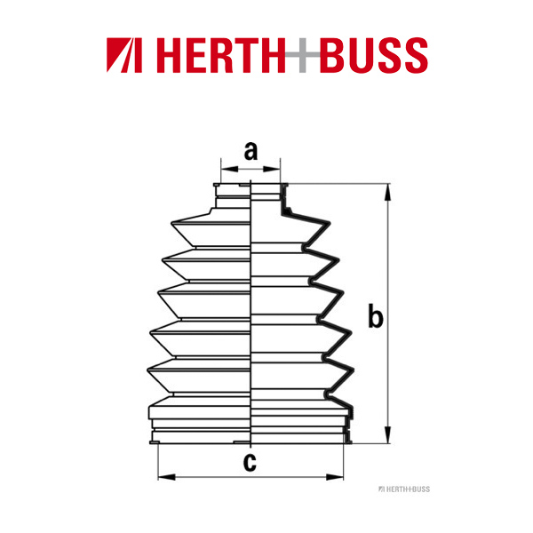 HERTH+BUSS JAKOPARTS Achsmanschetten Satz für MAZDA 626 V MITSUBISHI vorne RADS