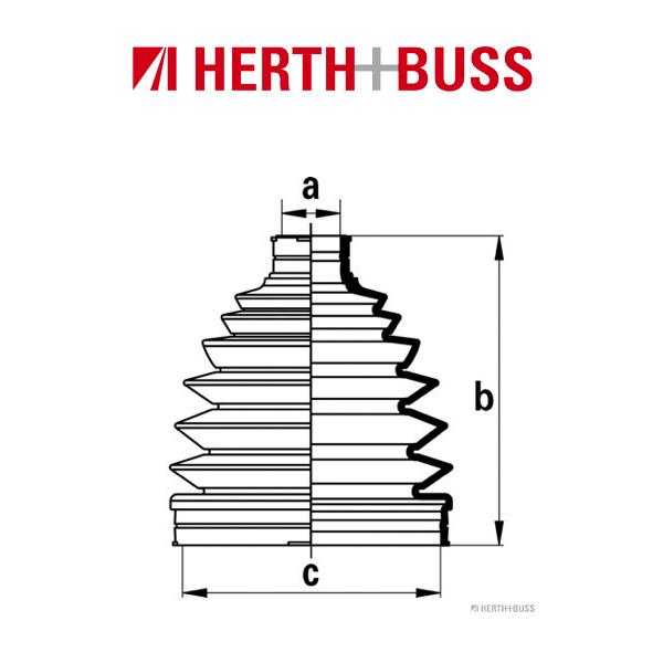 HERTH+BUSS JAKOPARTS Achsmanschetten Satz SUBARU Forester SF Impreza 1.6 vorne radseitig