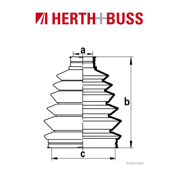 HERTH+BUSS JAKOPARTS Achsmanschetten Satz für MAZDA 6 bis 08.2007 vorne RADSEIT