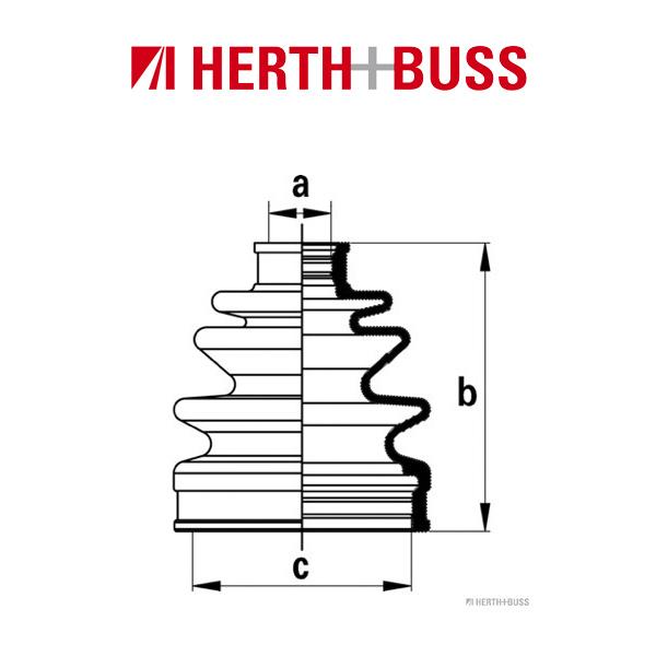 HERTH+BUSS JAKOPARTS Achsmanschetten Satz für HONDA HR-V (GH) hinten RADSEITIG