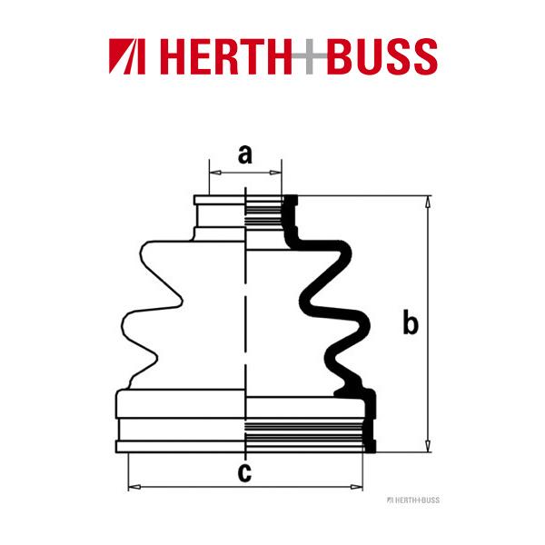 HERTH+BUSS JAKOPARTS Manschettensatz für HYUNDAI COUPE (GK) SONATA IV (EF)