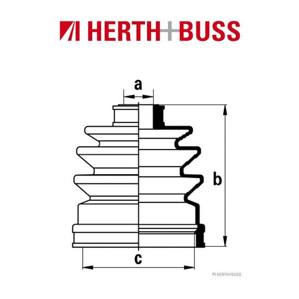 HERTH+BUSS JAKOPARTS Achsmanschetten Satz für NISSAN 100 NX ALMERA I GETRIEBESE