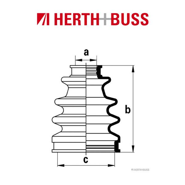 HERTH+BUSS JAKOPARTS Manschettensatz Antriebswelle LEXUS ES RX TOYOTA Camry Harrier Windom
