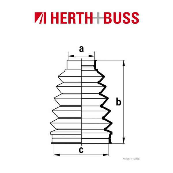 HERTH+BUSS JAKOPARTS Achsmanschetten Satz LEXUS GS LS SC TOYOTA Aristo S14 hinten