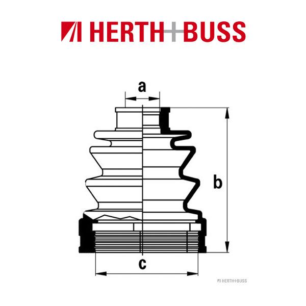 HERTH+BUSS JAKOPARTS Achsmanschetten Satz für MAZDA 626 II III vorne GETRIEBESE