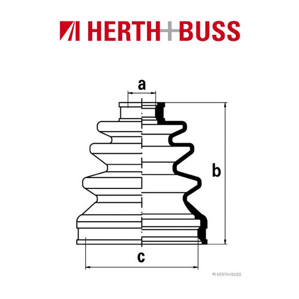 HERTH+BUSS JAKOPARTS Achsmanschetten Satz für HONDA ACCORD V VI vorne GETRIEBES