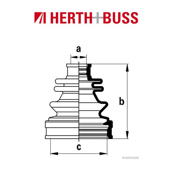 HERTH+BUSS JAKOPARTS Achsmanschetten Satz für HONDA HR-V (GH) hinten GETRIEBESE