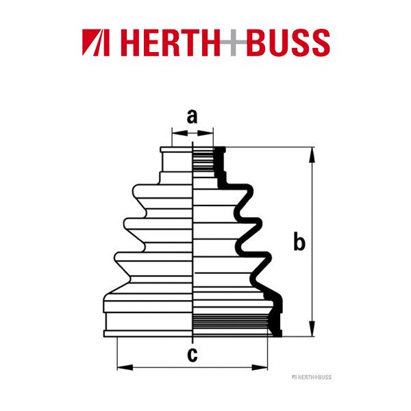 HERTH+BUSS JAKOPARTS Achsmanschetten Satz für HONDA CIVIC VII vorne GETRIEBESEI