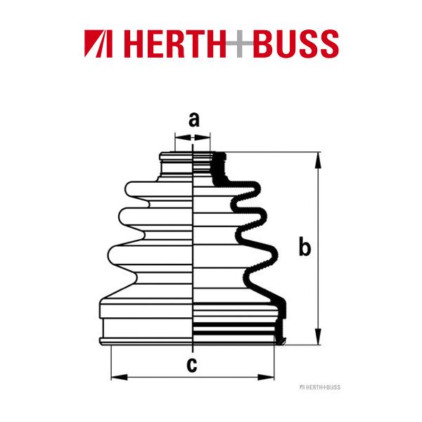 HERTH+BUSS JAKOPARTS Achsmanschetten Satz für MITSUBISHI COLT V LANCER VI vorne