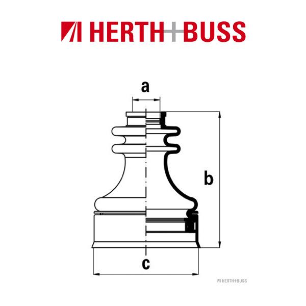 HERTH+BUSS JAKOPARTS Achsmanschetten Satz für MITSUBISHI vorne GETRIEBESEITIG