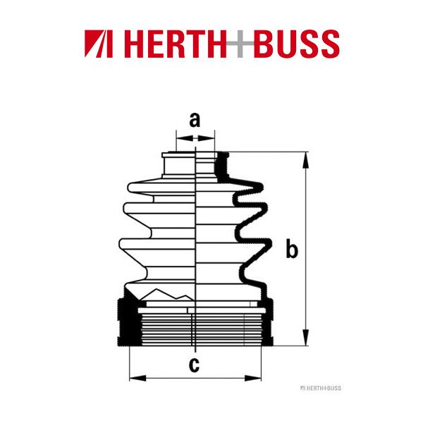 HERTH+BUSS JAKOPARTS Achsmanschetten Satz für DAIHATSU CUORE V vorne GETRIEBESE