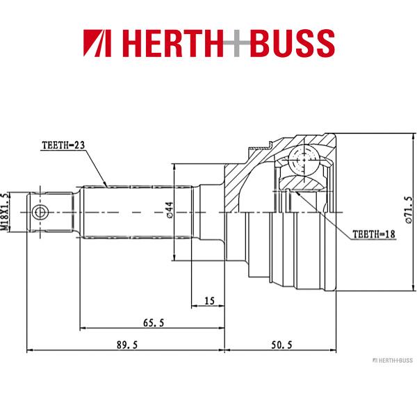 HERTH+BUSS JAKOPARTS Gelenksatz Antriebswelle für SUZUKI ALTO MARUTI vorne RADS