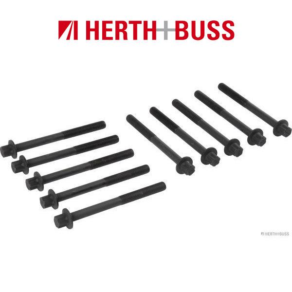 10x HERTH+BUSS JAKOPARTS Zylinderkopfschrauben NISSAN Juke Qashqai X-Trail 1.6