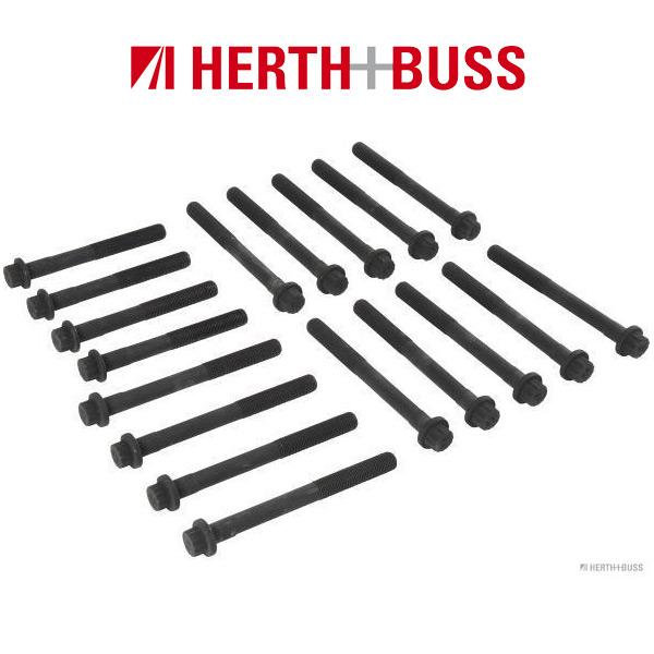 18x HERTH+BUSS JAKOPARTS Zylinderkopfschrauben TOYOTA Hiace Hilux Land Cruiser